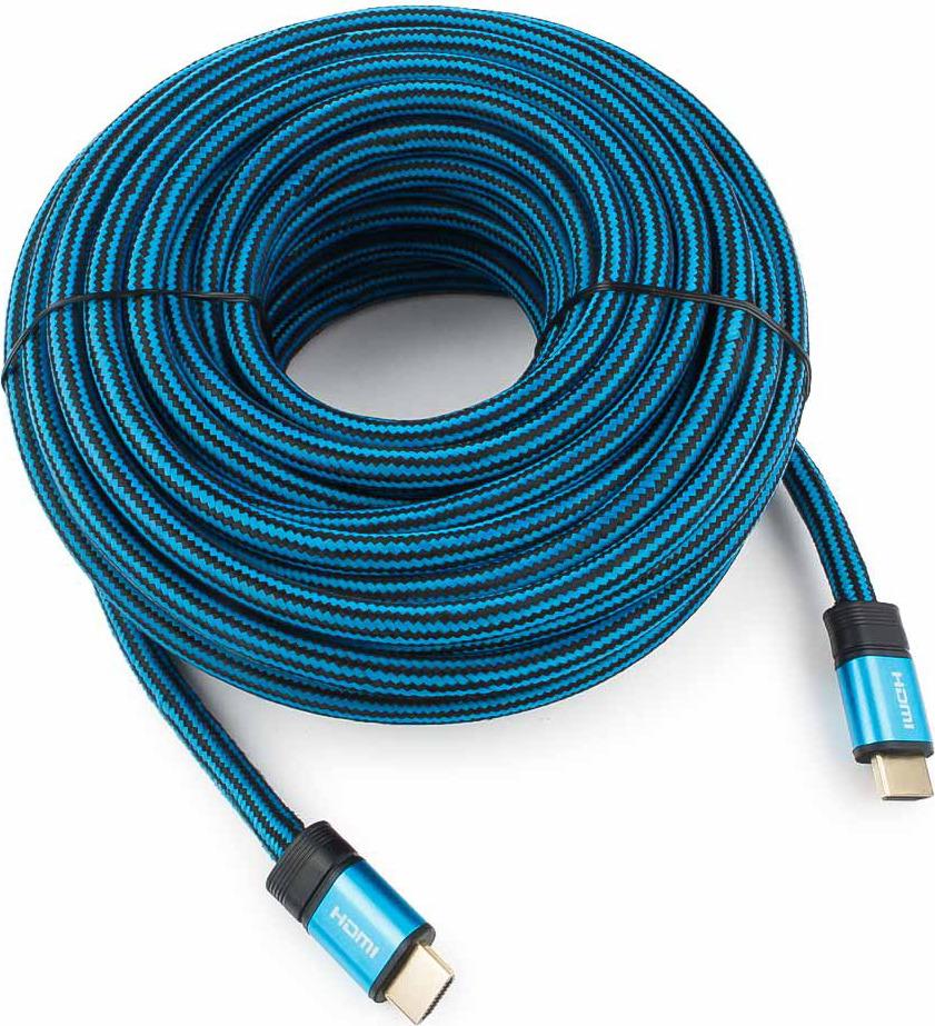 Кабель Cablexpert Gold HDMI, 15 м, CC-G-HDMI01-15M, синий кабель hdmi 10м cablexpert cc g hdmi01 круглый синий