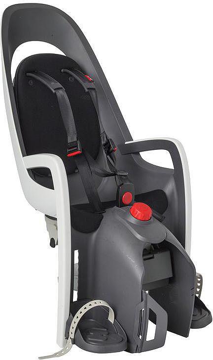 Велокресло детское Hamax Caress W/Carrier Adapter, серый, белый, черный детское велокресло hamax caress w carrier adapter цвет серый красный
