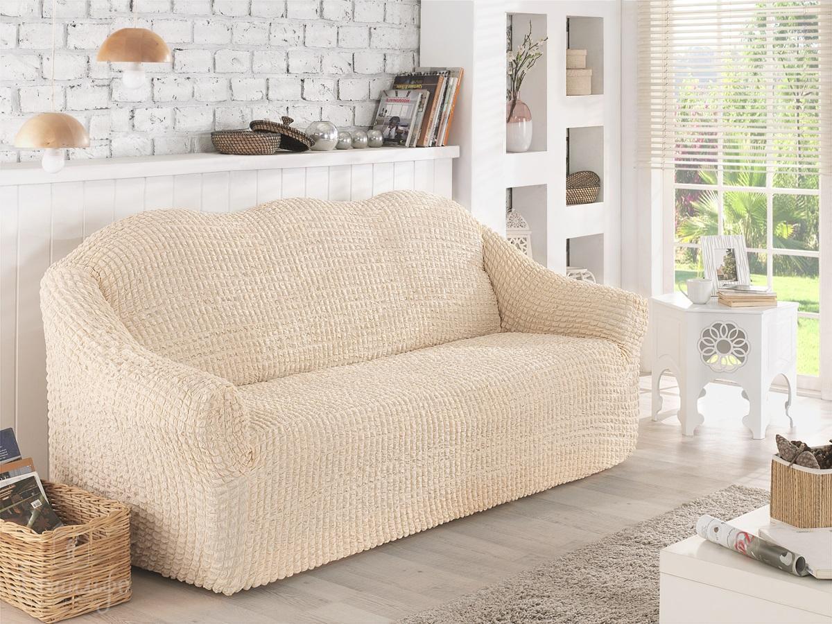 Чехол для дивана Karna, двухместный, без юбки, цвет: кофейный. 2651/CHAR006 чехол для двухместного дивана без подлокотников karna 2649 char006
