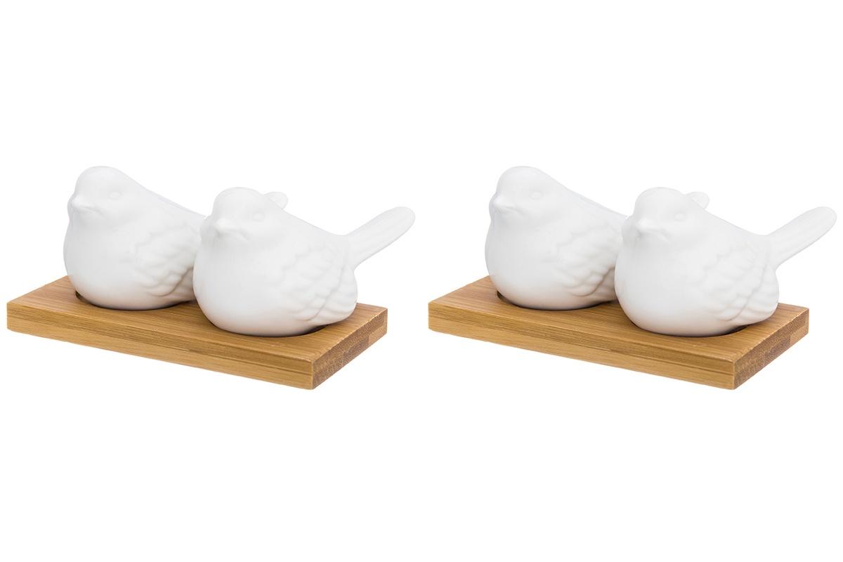 Набор для специй Elan Gallery 2 пр. Птички на подставке (2 набора)