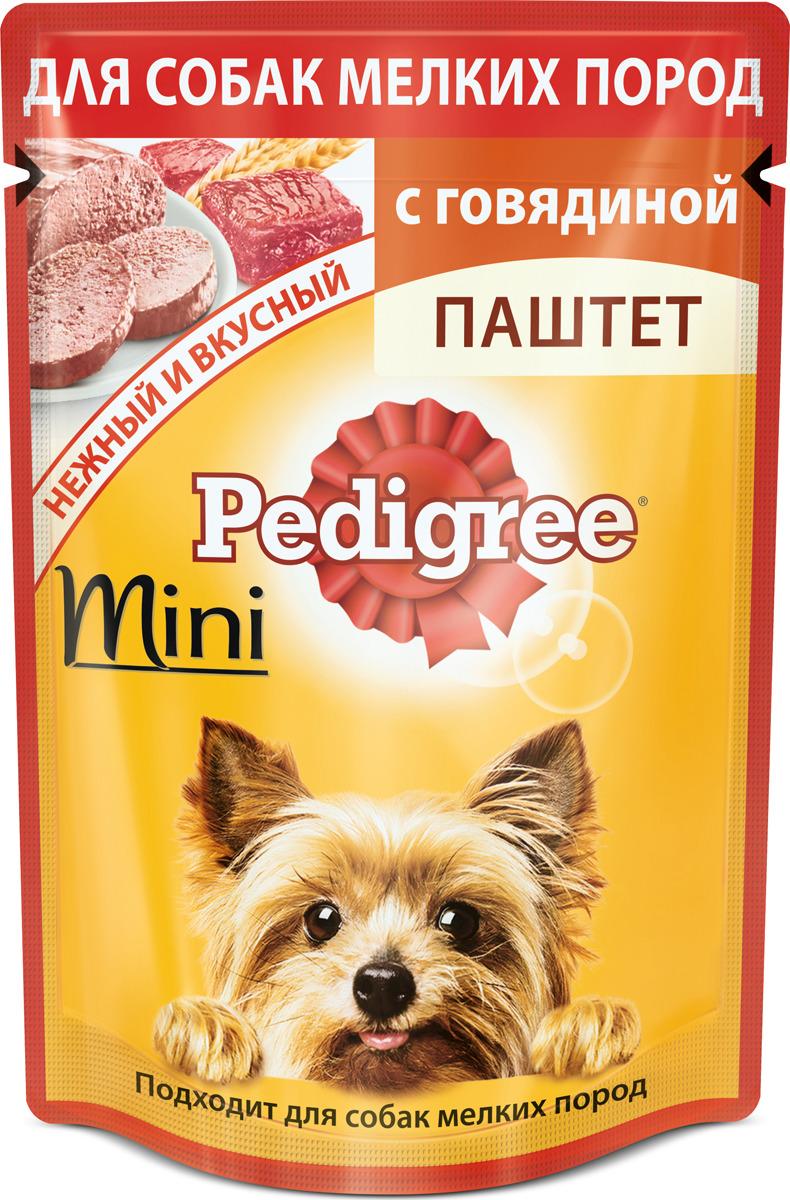 """Консервы """"Pedigree"""" для собак мелких пород, паштет с говядиной, 80 г"""