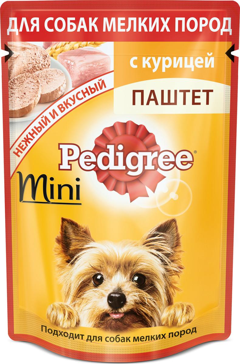 """Консервы """"Pedigree"""" для собак мелких пород, паштет с курицей, 80 г"""