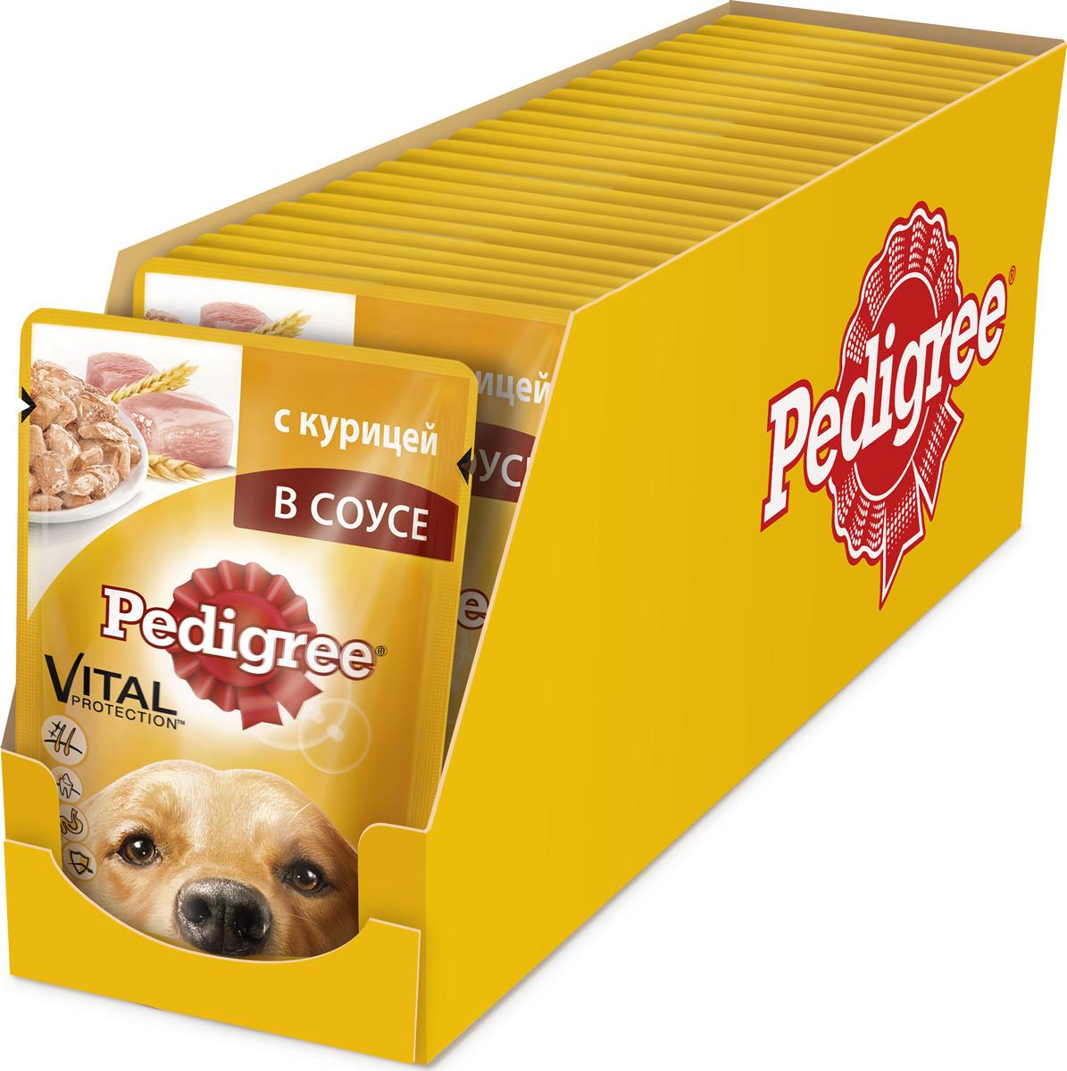 """Консервы """"Pedigree"""" для собак от 1 года, курица в соусе, 100 г, 24 шт"""