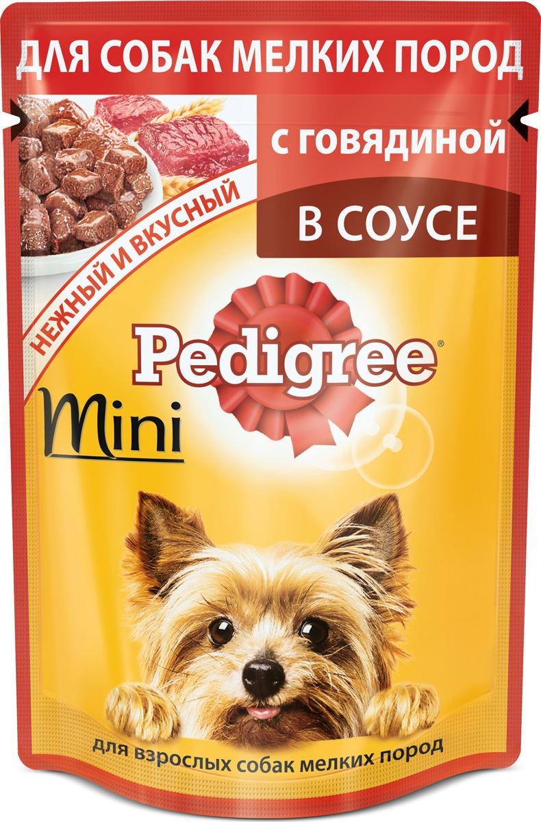 """Консервы """"Pedigree"""", для взрослых собак мелких пород, с говядиной, 85 г"""