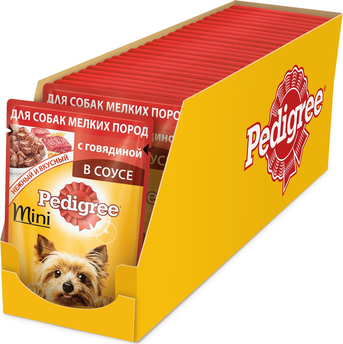 """Консервы """"Pedigree"""", для взрослых собак мелких пород, с говядиной, 85 г х 24 шт"""