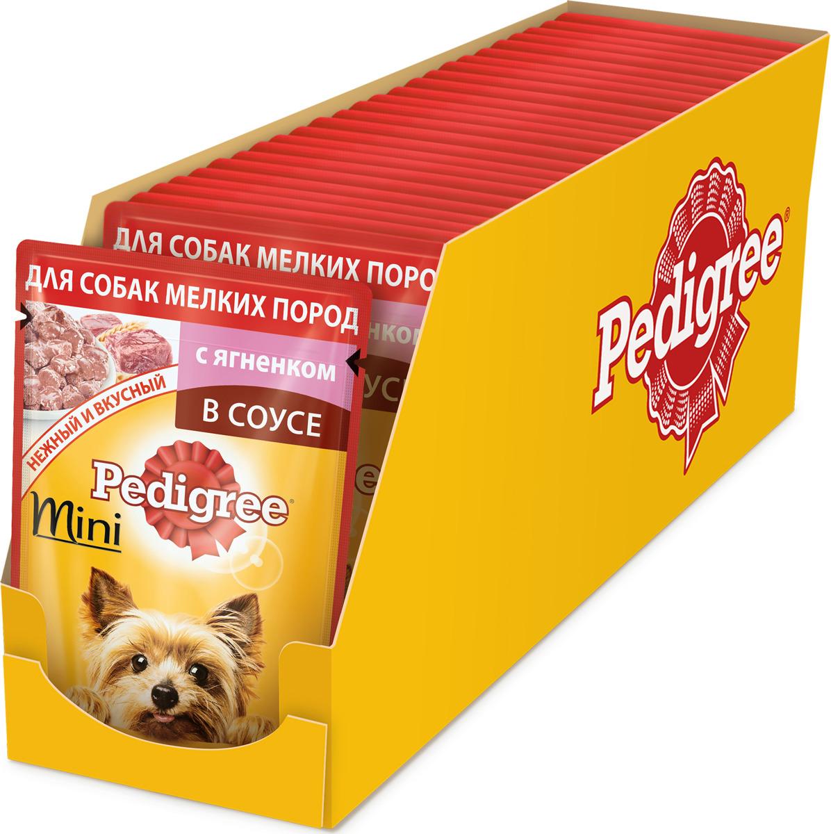 """Консервы """"Pedigree"""", для взрослых собак мелких пород, с ягненком, 85 г х 24 шт"""