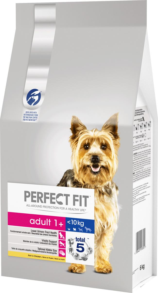 """Корм сухой """"Perfect Fit"""", для взрослых собак от 1 года мелких и миниатюрных пород, с курицей, 6 кг"""