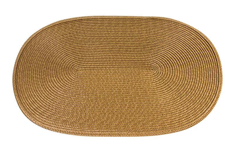 """Набор 4-х салфеток """"Светло-коричневое плетение"""" 45*30 см., плетеные, овальные, PVC, упаковка - картонный хедер"""