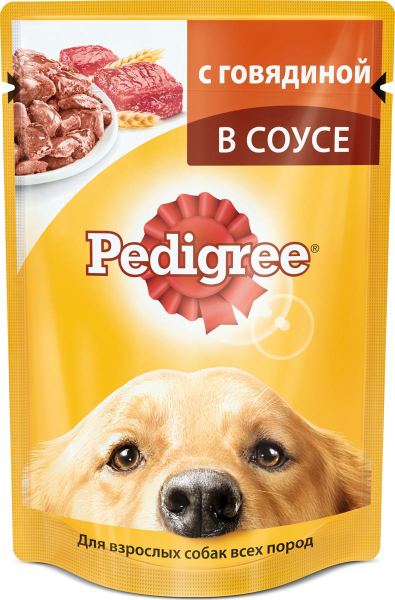 """Консервы """"Pedigree"""" для взрослых собак всех пород, с говядиной в соусе, 100 г"""