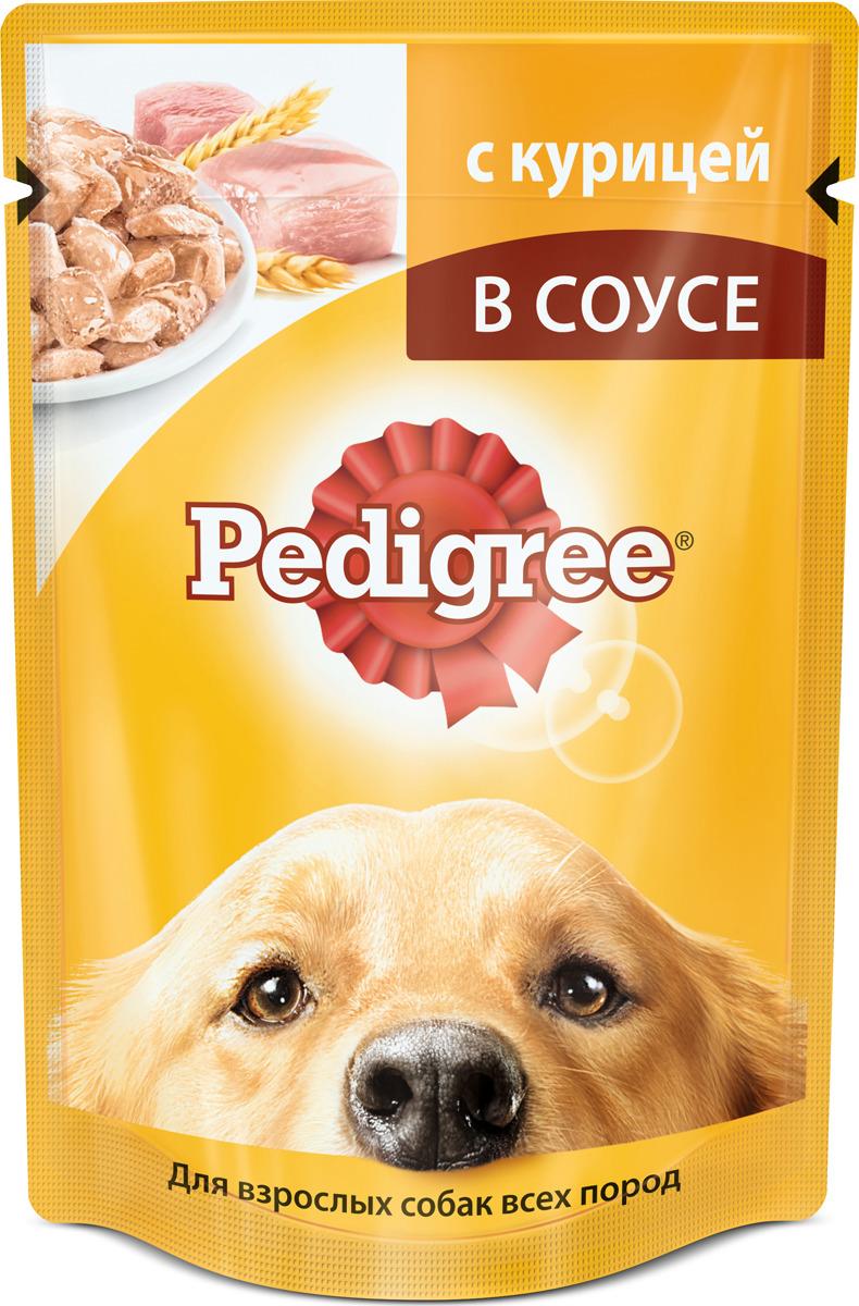 """Консервы """"Pedigree"""" для взрослых собак всех пород, с курицей в соусе, 100 г"""