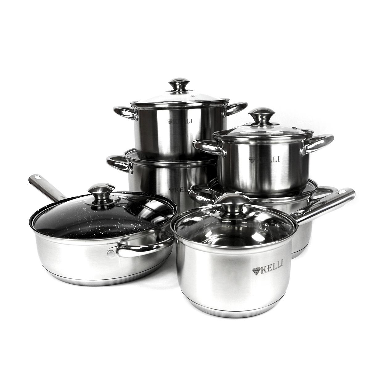 Набор посуды для приготовления Kelli 4101, серебристый цена
