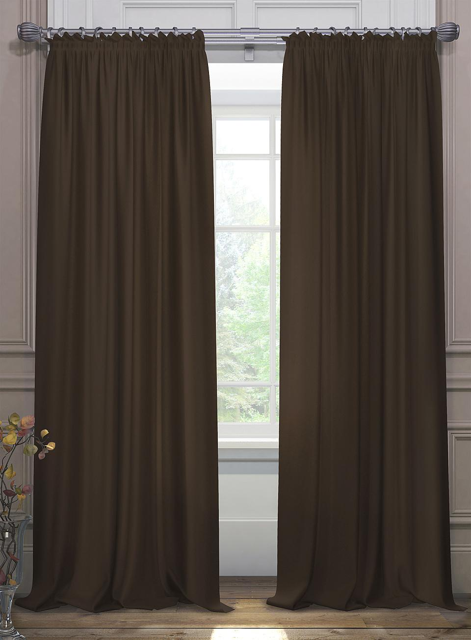 Комплект штор Томдом Элести, темно-коричневый аксессуар для штор томдом подхват коса темно малиновый