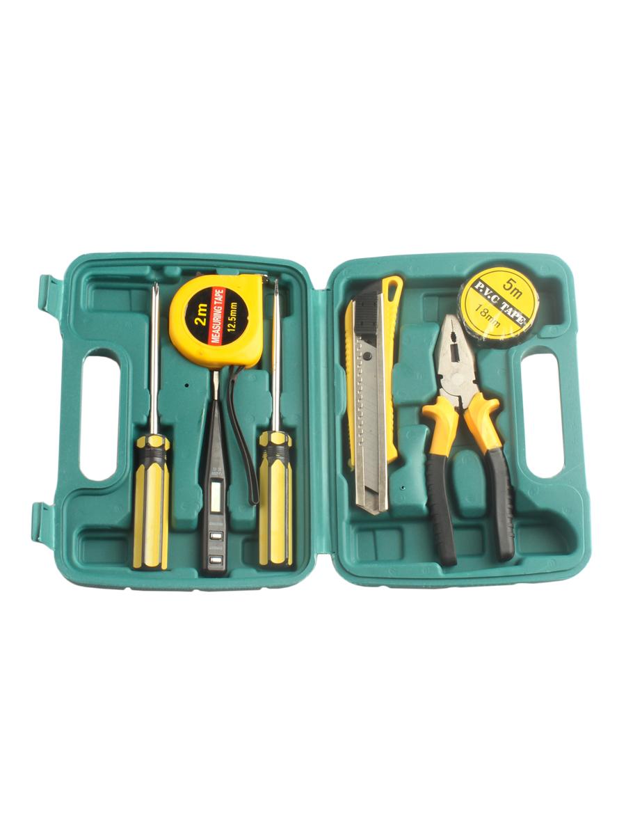 Набор инструментов Sadko 395453456, зеленый набор инструментов sata 09535 53пр для электротехнических работ пласт кейс