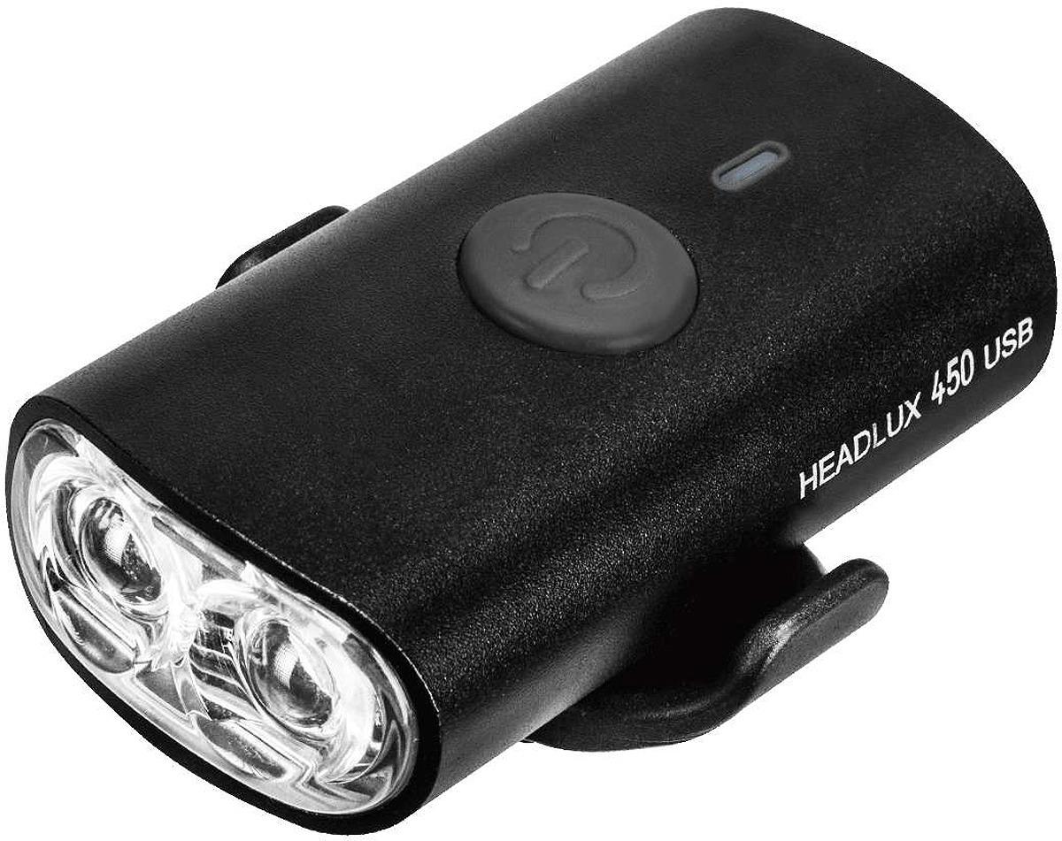 Велосипедная фара передняя Topeak Headlux 450 USB, TMS089B, черный
