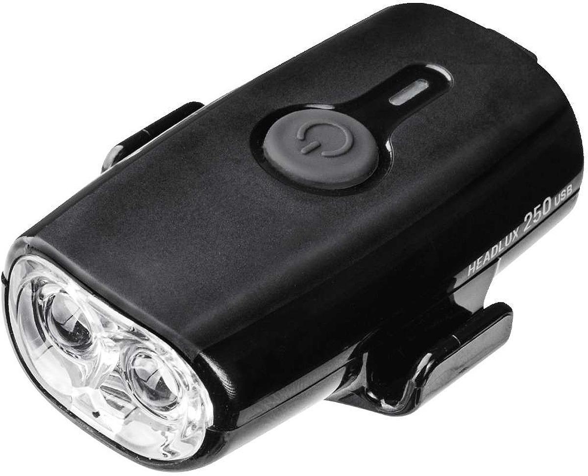 Велосипедная фара передняя Topeak Headlux 250 USB, TMS088B, черный