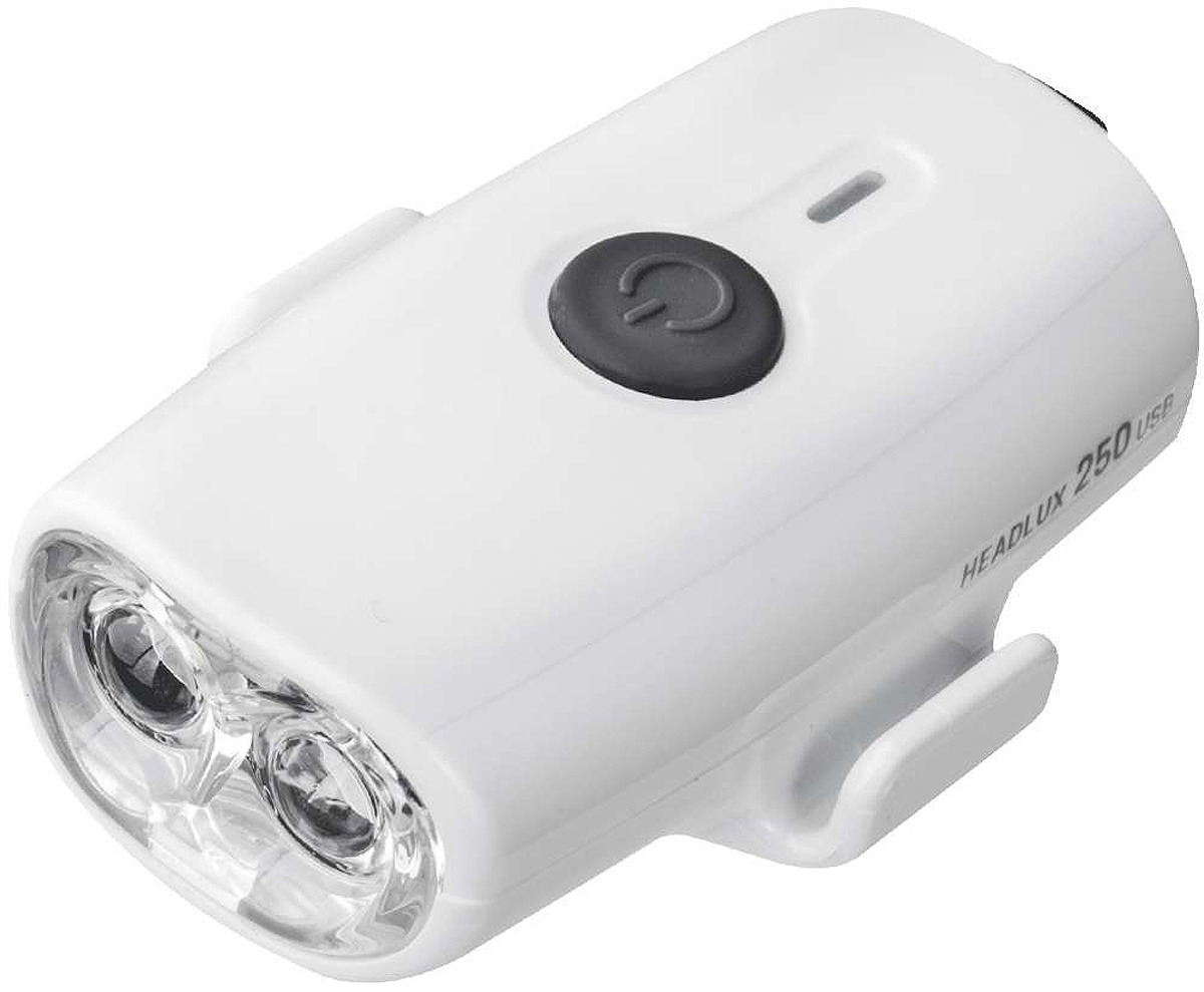Велосипедная фара передняя Topeak Headlux 250 USB, TMS088W, белый