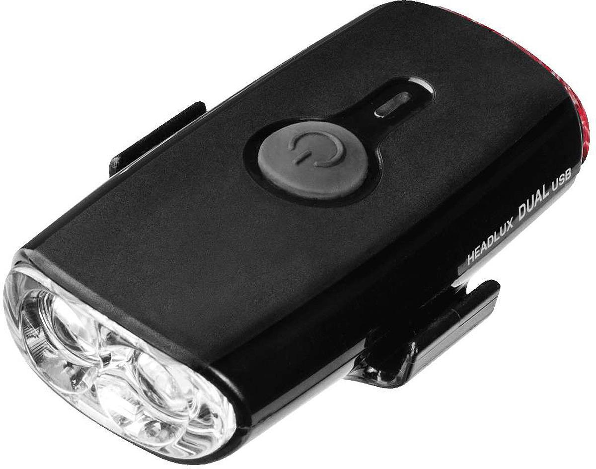 Велосипедная фара габаритная Topeak Headlux Dual USB, TMS090B, черный