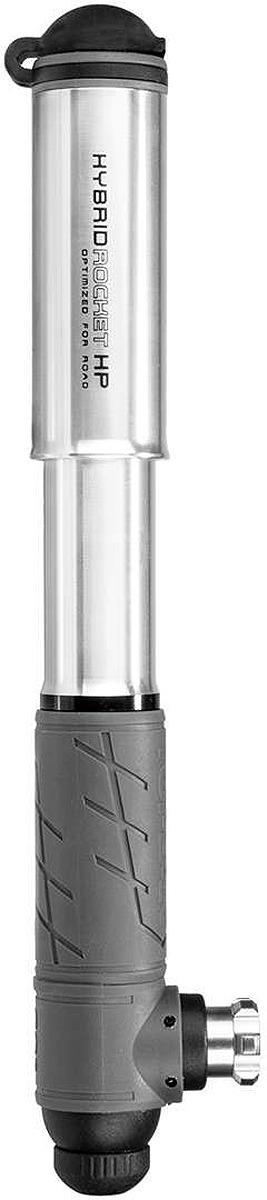 Велосипедный насос Topeak Hybrid Rocket Hp, комбинированный, THR-HP1S, серебристый насос topeak racerocket ручной портативный серебристый trr 1s