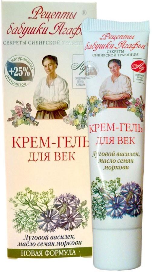 Гель для ухода за кожей Рецепты бабушки Агафьи  Для век Рецепты бабушки Агафьи