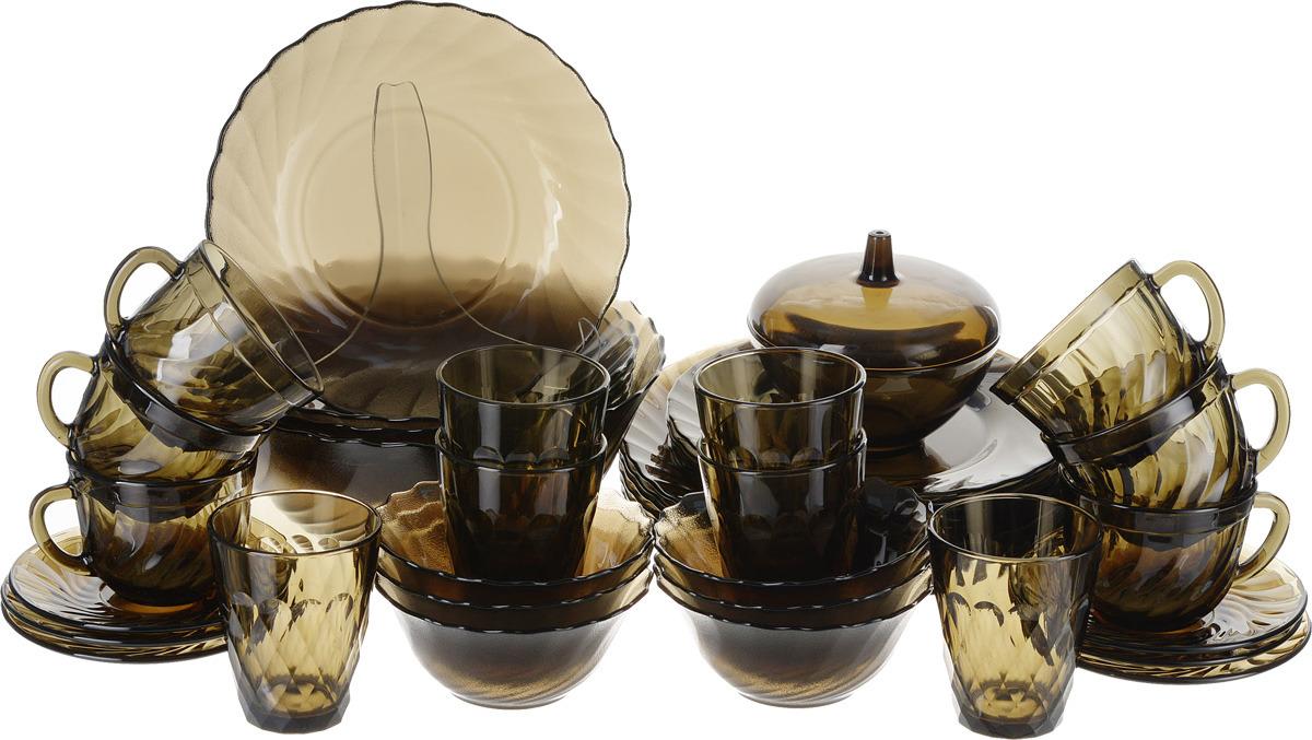 Набор столовой посуды Luminarc Океан Эклипс, L5110, коричневый набор столовой посуды luminarc нью карин n2955 белый черный