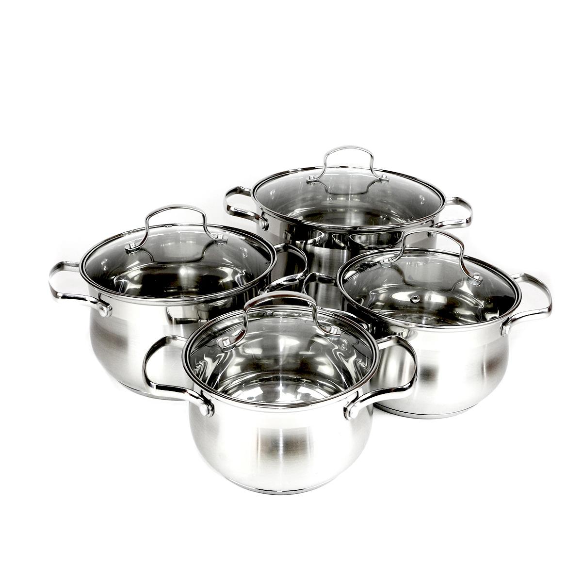 Набор посуды для приготовления Kelli 4208, серебристый