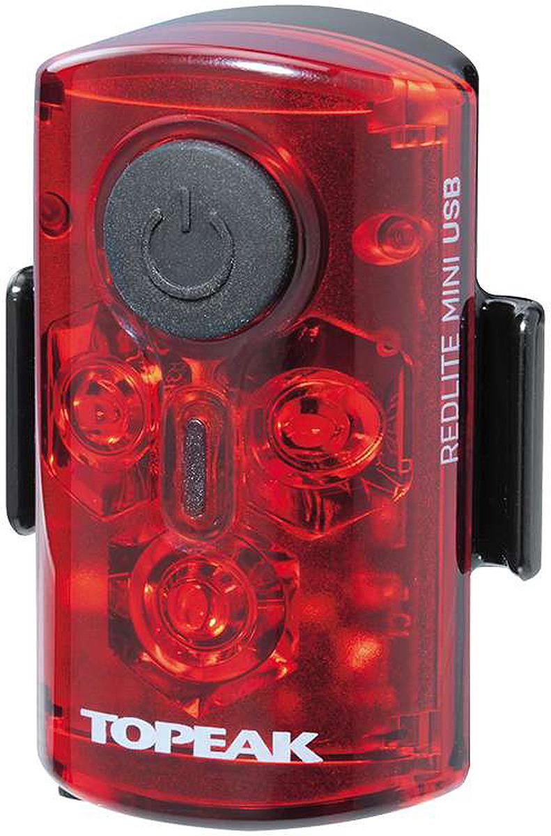 Велофонарь задний Topeak RedLite Mini USB, TMS078, черный задний габаритный фонарь с зарядкой topeak redlite mini usb tms078