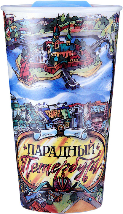 Термокружка Woodsurf Faces&Places Парадный Петербург, крышка-поилка, 320 мл термокружка woodsurf quick open 2 0 350ml burgundy metallic qotc2350 01