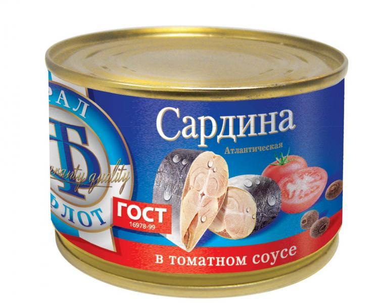 Фото - Сардина атлантическая в томатном соусе, ТраллФлот леонид влодавец атлантическая премьера