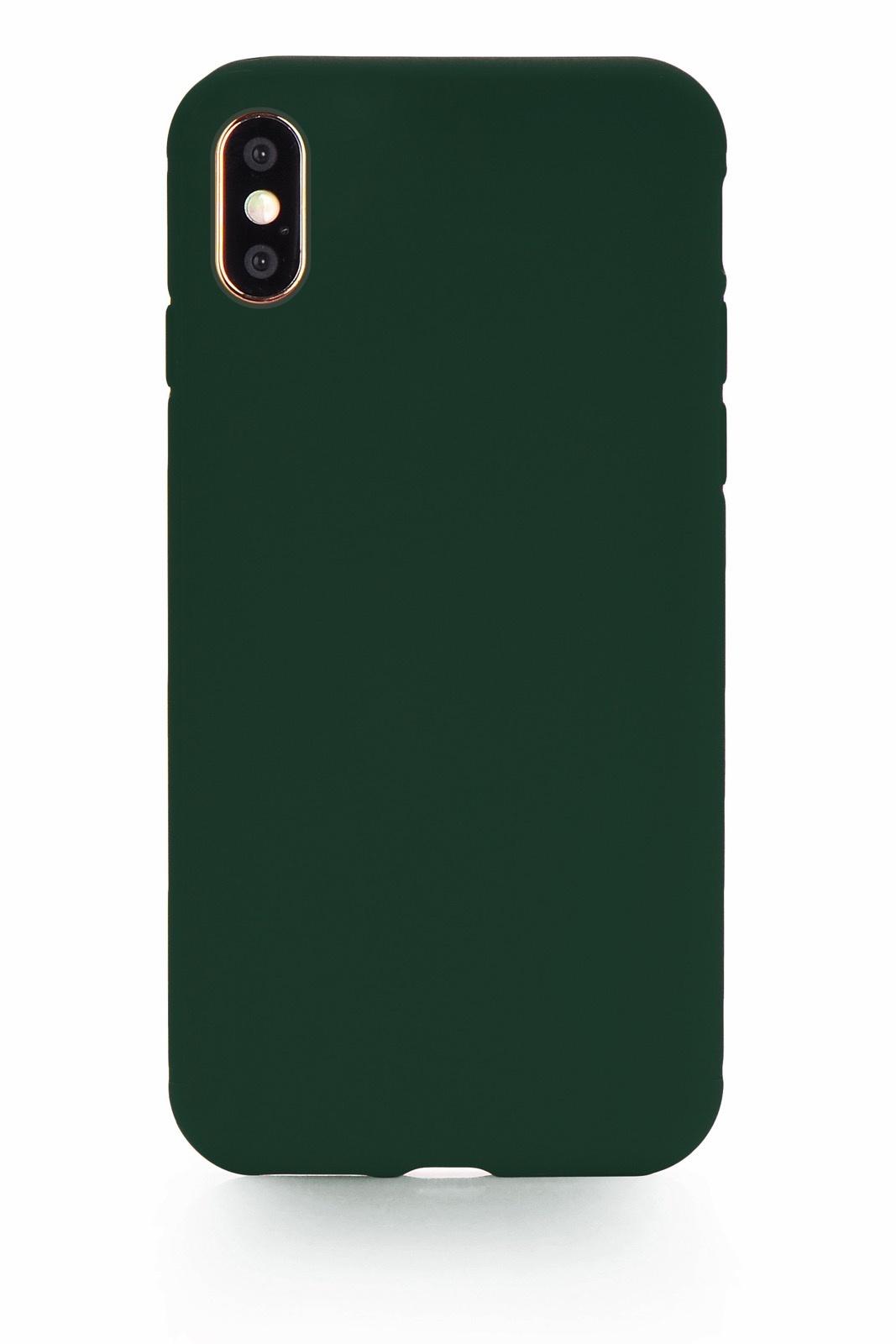 "Чехол для сотового телефона Gurdini Soft Lux силикон (14) для iPhone XS Max 6.5"", темно-зеленый"
