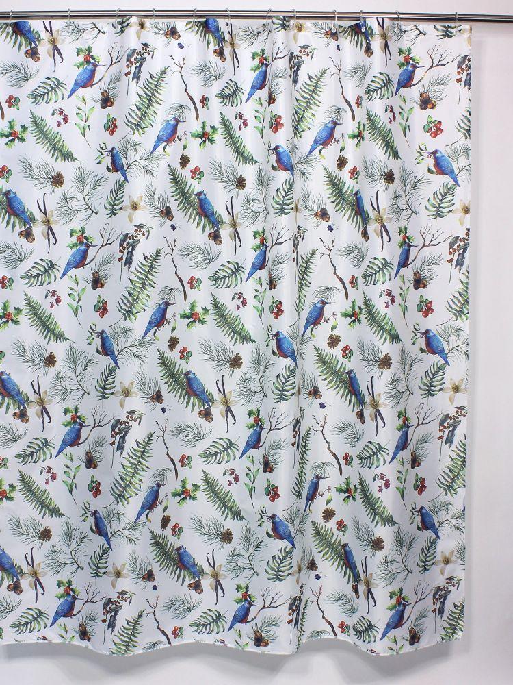 Штора для ванной Bath Plus Branches of Bird, белый, зеленый, голубойch-21272Модные шторы для ванной марки Bath Plus, сделаны из 100% полиэстера, с водоотталкивающей пропиткой и утяжелительной цепочкой внизу. Большой выбор расцветок и рисунков позволит подобрать штору для любой ванной комнаты. Кольца в комплекте не поставляются. Размер полотна 180*180, плотность 80г./кв.м. Обращаем внимание, фактический цвет изделия и яркость рисунка может незначительно отличаться от изображения на сайте. Хороших Вам покупок!