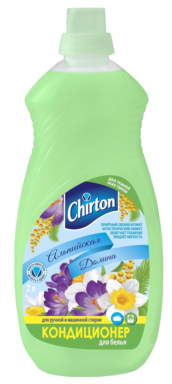 Кондиционер, ополаскиватель Chirton Альпийская долина, зеленый, 2.096 кондиционер ополаскиватель для белья chirton нежные прикосновения детский 2 л
