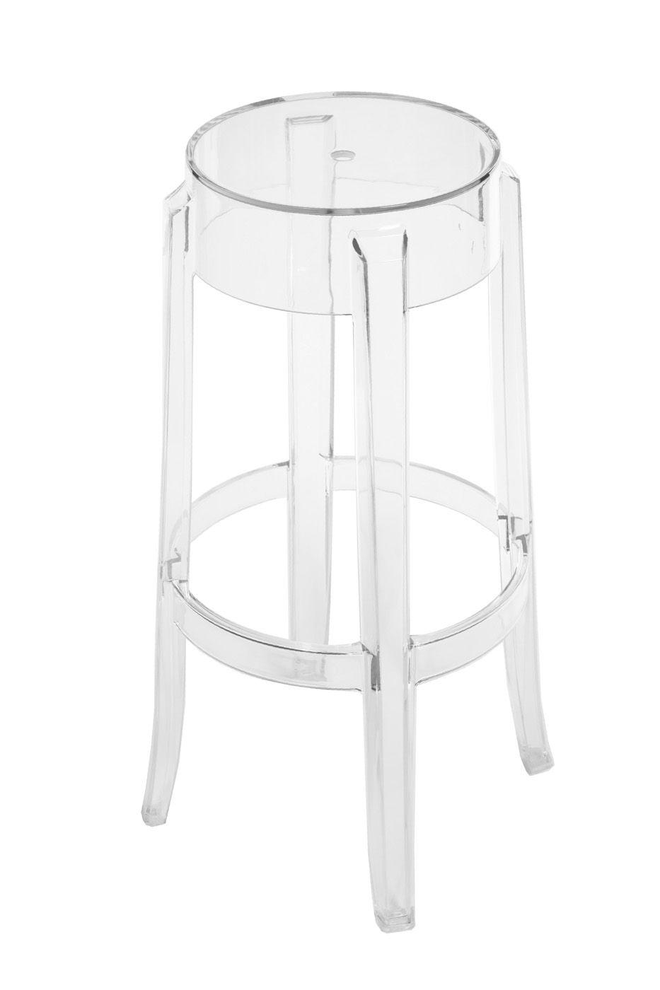 Стул Bradex барный Charles Ghost, прозрачный барный стул цвет мебели bn1012 wy451 черный