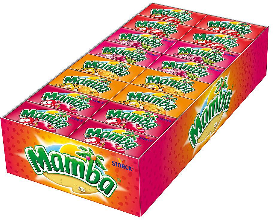 лучшая цена Конфеты жевательные Mamba, 48 шт по 26,5 г