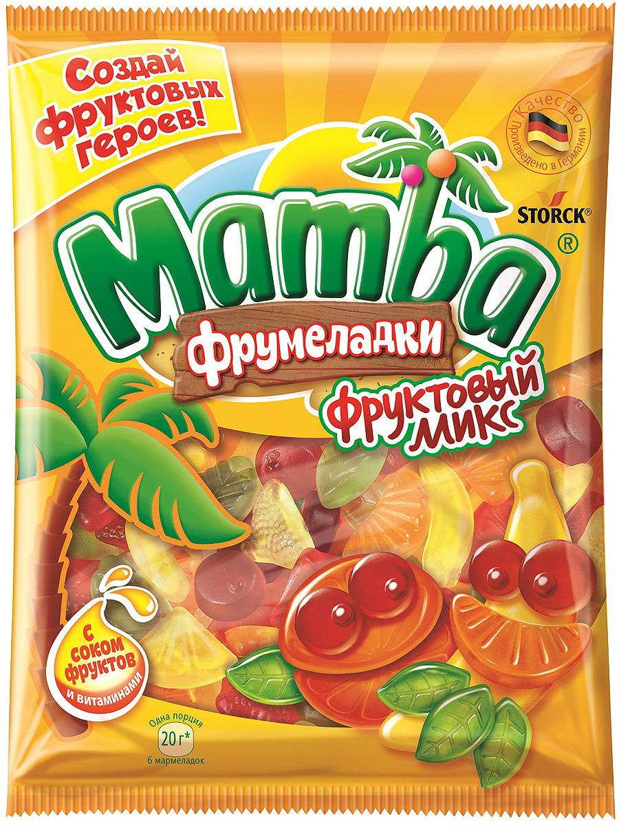 Мармелад жевательный Mamba Фруктовый микс, 140 г жевательный мармелад mamba фруктовый микс 24 шт х 72 г