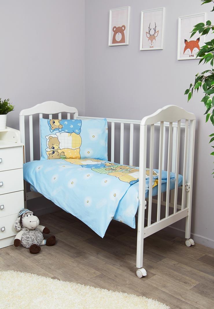 Фото - Комплект белья для новорожденных Сонный гномик Лежебоки, голубой комплект белья для новорожденных сонный гномик жирафик бежевый белый