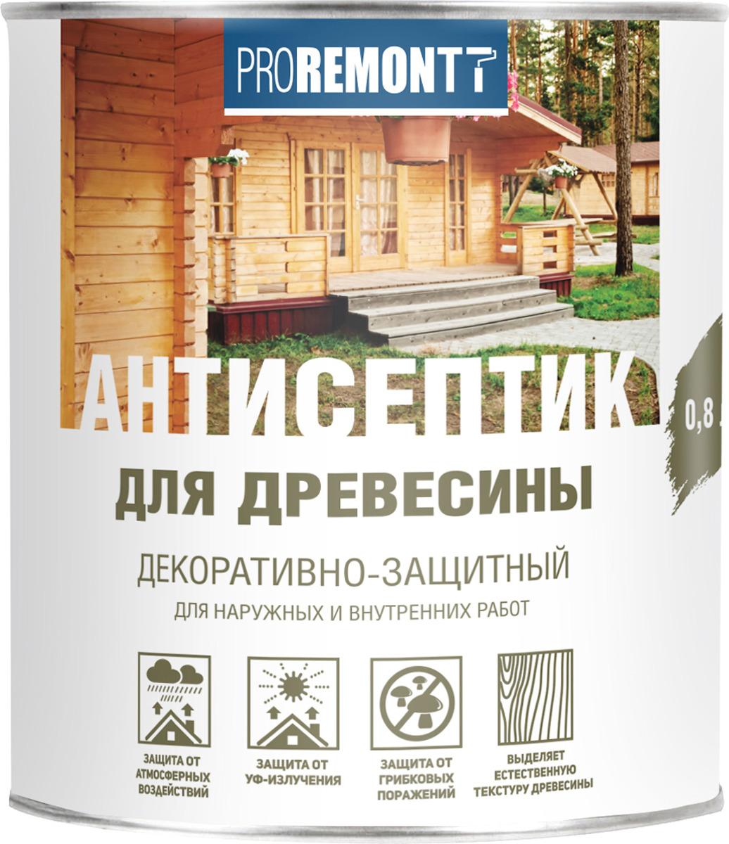Антисептик для древесины Proremontt, орех, 800 мл цена и фото