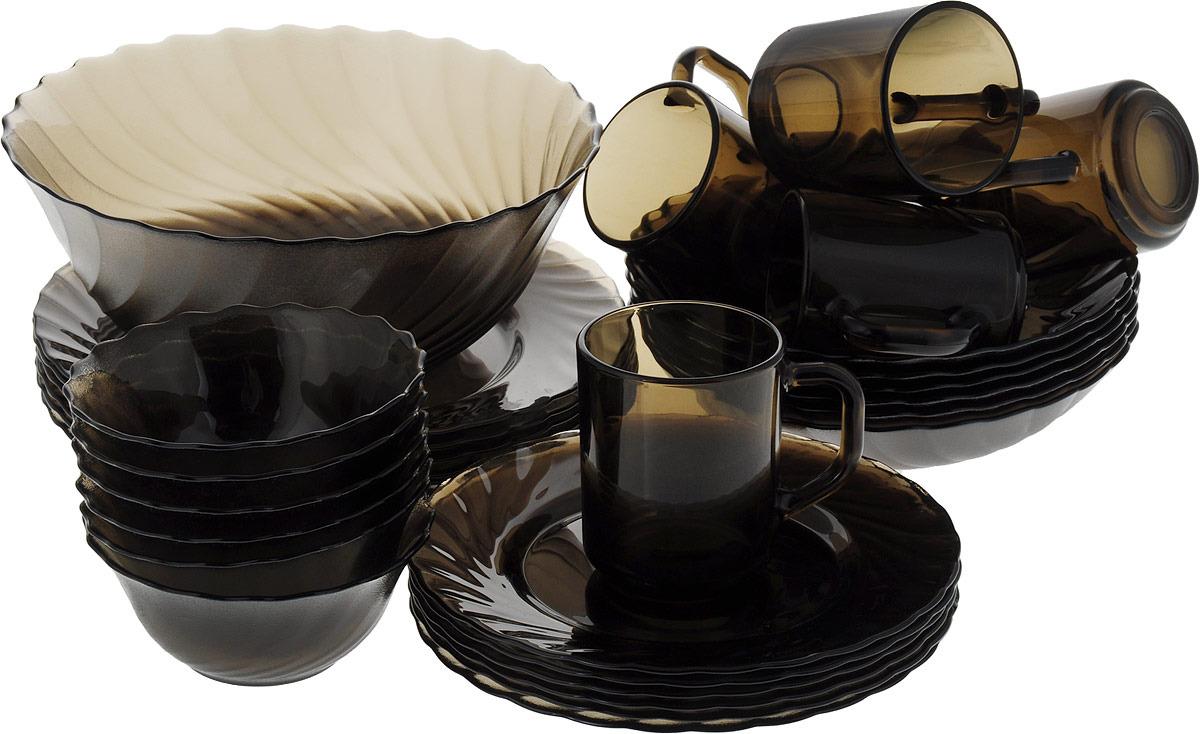 Набор столовой посуды Luminarc Океан Эклипс, L5109, коричневый набор столовой посуды luminarc нью карин n2955 белый черный