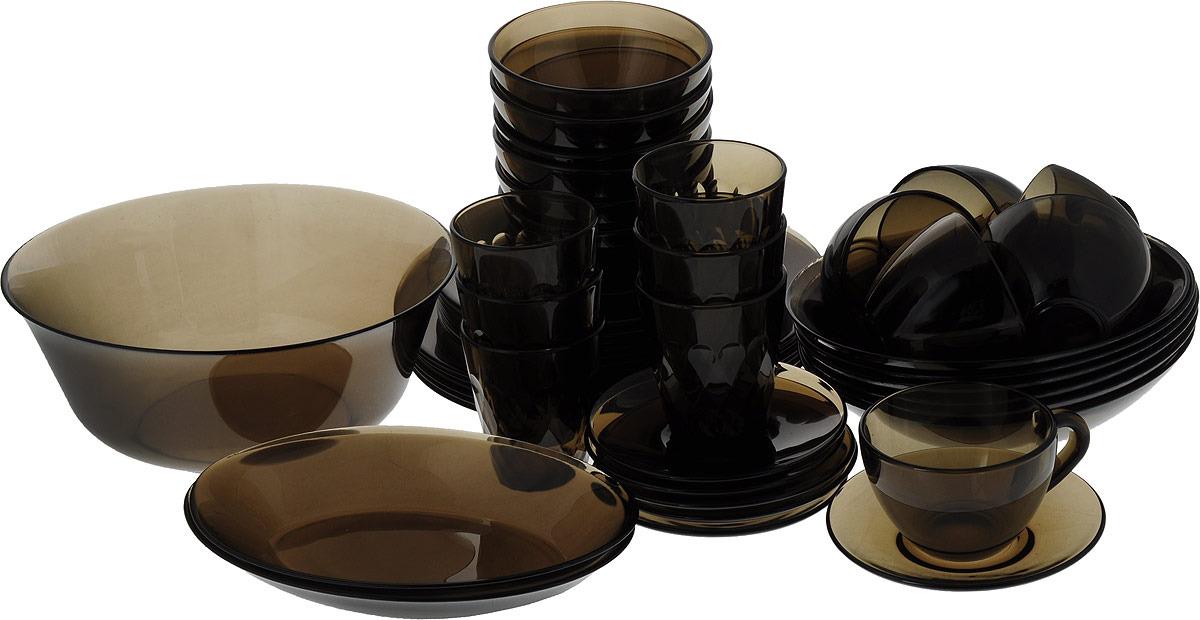Набор столовой посуды Luminarc Амбьянте Эклипс, L5181, коричневый набор столовой посуды luminarc нью карин n2955 белый черный