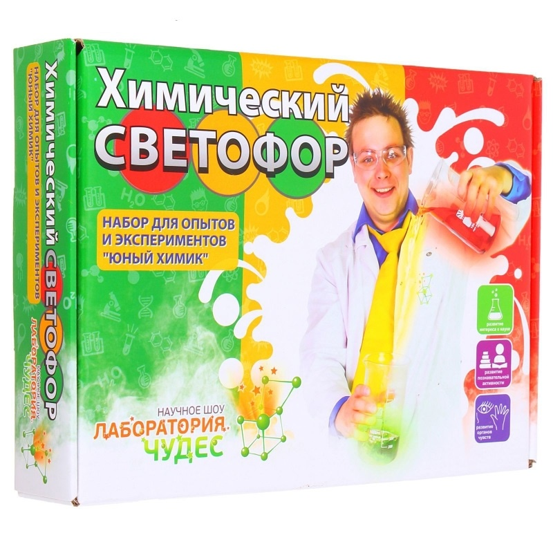 Обучающая игра Висма Юный химик. Химический светофор настольная игра висма 822 12