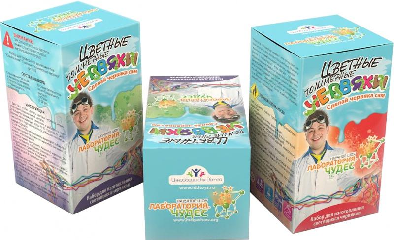 Обучающая игра Висма 817817Что в коробке Увлекательный набор «Цветные червяки» заключает в себе все необходимое для проведения яркого химического эксперимента с полимерами. Ребенку нужно будет смешать реагенты и вещества в колбах, чтобы получить забавные полимерные игрушки — ярких и пластичных червяков. В наборе имеется красочная инструкция по опытам с необходимыми пояснениями, и весь процесс рассчитан таким образом, чтобы быть безопасным для ребенка. С получившимися червячками потом можно будет играть и забавляться. На примере создания этих игрушек можно будет наглядно посмотреть на базовые свойства полимеров — в этом заключается познавательная часть набора из серии «Юный химик». Помогает развитию произвольности (умения играть по правилам и выполнять инструкции), познавательной деятельности, общей культуры и эрудиции.
