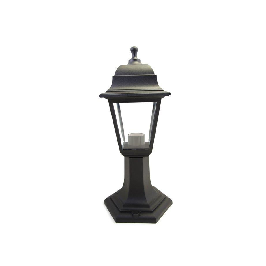 Уличный светильник APEYRON electrics ОСКАР, черный11-12ЧЕРЧетырехгранный уличный светильник ОСКАР порадует владельцев своими уникальными свойствами. Он компактный, высотой всего лишь 340 мм, сделан из прочного пластика и стекла. Светильник очень стойко переносит погодные условия: жару, холод, дождь и снег. Светильник легко устанавливать в любом понравившемся месте. Специальный керамический патрон Е27 предназначен для разных ламп мощностью до 60 Вт.