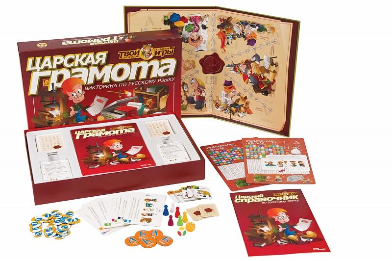 Настольная игра Step Puzzle 7640876408Что в коробке Это нельзя назвать просто игрой, ведь это не совсем развлечение, а именно – способ «размять извилины», заставить свой мозг работать. Конечно, все это происходит в свободной, непринужденной атмосфере игры, однако относиться к ней стоит со всей серьезностью и внимательность. Игра выступает в роли некой энциклопедии, рассказывающей о различных фактах, которые не каждый знает. Она подходит для детей, ведь им тоже нужно узнавать об истории собственного государства и многое другом. Причем, благодаря тому, что все это происходит в компании, развивается и чувство соперничества, что обязательно пригодиться в течение всей жизни. Игра, но не просто развлекалка Игра, кроме того, что в процессе участники получают удовольствие, также несет и образовательную функцию: Основная цель Викторина Царская грамота (как и следует из названия) – развитие у ребенка интереса к родному языку, правилам и т.п. Также он сможет побороть в себе боязнь преодоления трудностей и проблем. Это и является ключевым отличием данной игры от всех остальных – получение множества знаний, в легком и непринужденном процессе игры. Таким образом, дитя сможет подготовиться к предстоящей школьной программе и получить необходимые знания. Игра без ограничений возраста Что же сможет получить ребенок, если вы ему купите Викторина Царская грамота: