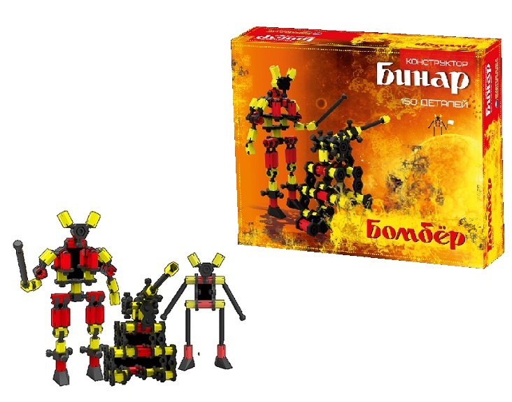 Настольная игра Биплант bp11072bp11072Что в коробке Большинству детишек нравится фильм Трансформеры, да и игрушечные роботы наверняка есть у каждого. Но в данном случае вы приобретаете не просто игрушку, а очень интересное развлечение. Здесь необходимо собрать что-то или кого-то, а помочь в этом призваны схемы, имеющиеся в комплекте. С помощью небольших цветных элементов можно создавать совершенно необычные строения, животных, роботов, машины и тому подобное. Не обязательно следовать тому, что сказано в инструкции – включаете фантазию и отправляетесь в конструкторский мир. Поиграем с пользой Самое важное, чему научится ребенок с этим конструктором – работать головой и использовать воображение. Оно необходимо здесь в любом случае, ведь нужно пытаться представить – как должна выглядеть фигурка не на бумаге инструкции, а в реальном мире. Вдобавок, фантазия понадобиться при самостоятельной сборке, когда вы захотите придумать что-то свое. Немалое значение имеет и мелкая моторика, которая тут очень важна, так как детали достаточно маленькие и их очень уж много. Но и, конечно – можно изучать цвета в легкой, игровой форме, только на помощь должны прийти родители. Придумайте задание, например - собрать собачку исключительно желтого цвета.