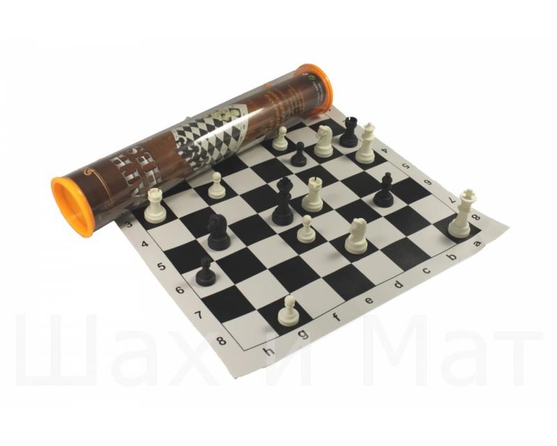 Шахматы РФН в тубусеu4501Что в коробке Виниловая доска Пластмассовые шахматные фигуры, Материал: винил Исполнение: шелкография Высота короля (см): 6,5 Диаметр основания Короля (см): 2,5 Высота пешки (см): 3 Диаметр основания пешки (см): 2 Размер клетки (см): 4 Размер (см): 35/35 Размер в упаковке (см): 49/11/11 Вес (кг): 0.7 Производитель: РФН Страна производитель: Китай