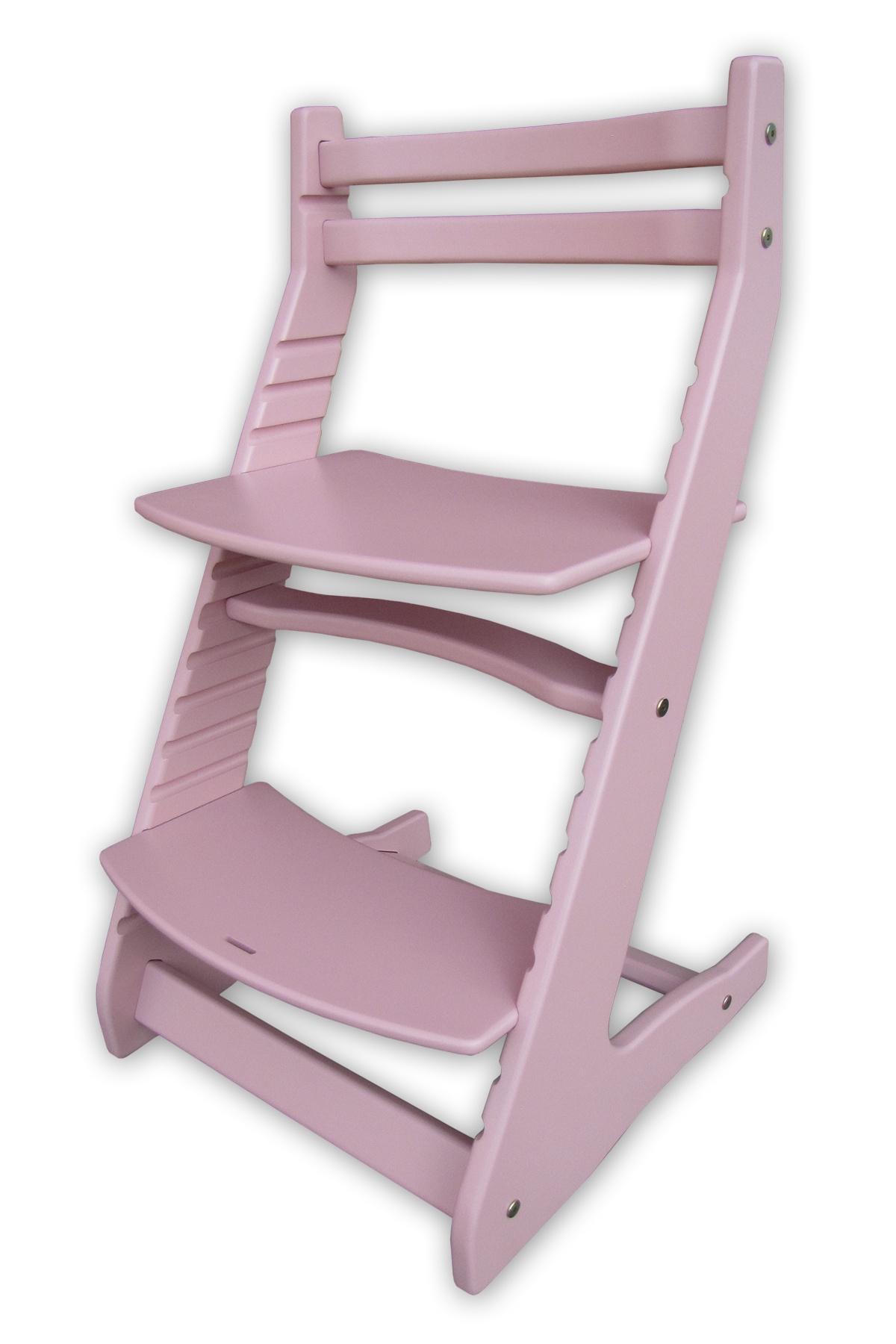 Растущий регулируемый стул. Детский стульчик для кормления Вырастайка - фламинго
