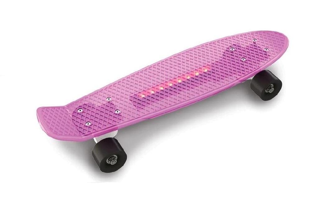 Скейтборд Doloni Скейт, розовый