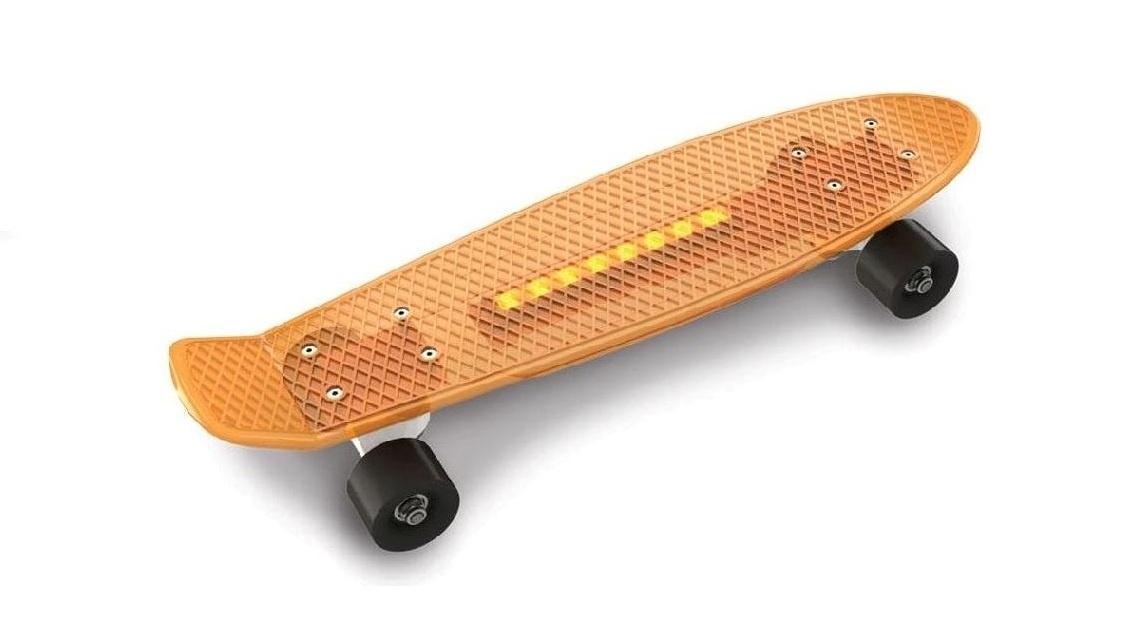 Скейтборд Doloni Скейт, оранжевый