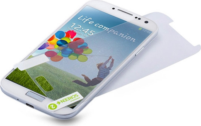 Защитная пленка двусторонняя Momax Glitter для Samsung SA-Galaxy S4 i9500, глянцевая защитная пленка для samsung galaxy s4 i9500 i9505 g screen антибликовая