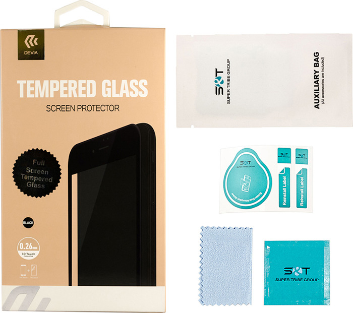 Защитное стекло Devia Van Full Screen Tempered Glass 0.26мм для Apple iPhone 7/8, глянцевое