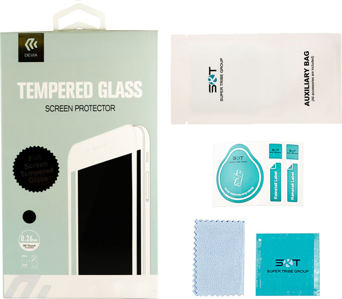 Защитное стекло Devia Full Screen Tempered Glass 0.26мм для Apple iPhone 7Plus/8Plus, глянцевое